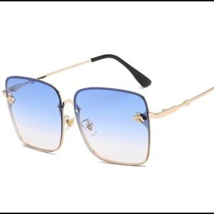 Luxury Square Bee Sunglasses for Women and Men